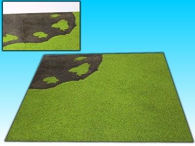 Übergangsplatte Stadt/Gras Ecke, 50 x  50 cm