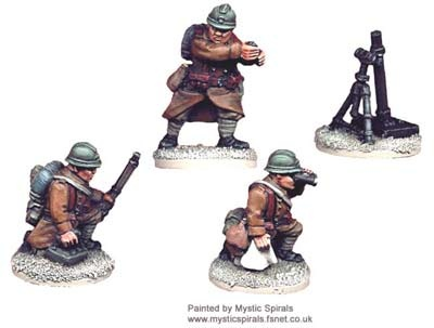 French 81mm Mortar and Crew (1 mortar, 3)