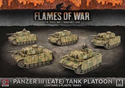 Panzer III (Late) Tank Platoon (Plastic)