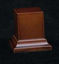 Wooden Base Brown, 35x35x50mm