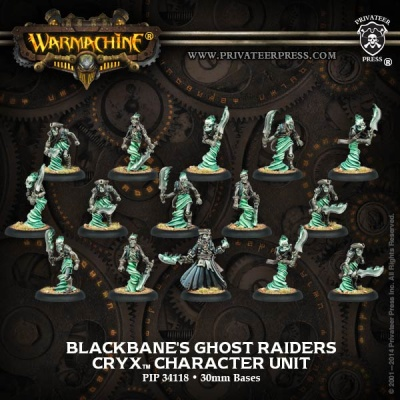 Cryx Blackbane's Ghost Raiders Unit Box (15) (plastic)