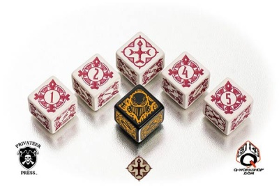 Warmachine The Protectorate of Menoth Faction Dice (6)