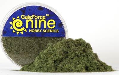 Hobby Round: Statisches Gras (dunkles Grün)