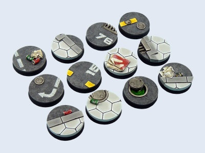 Urban Rubble Bases, 25mm (5)