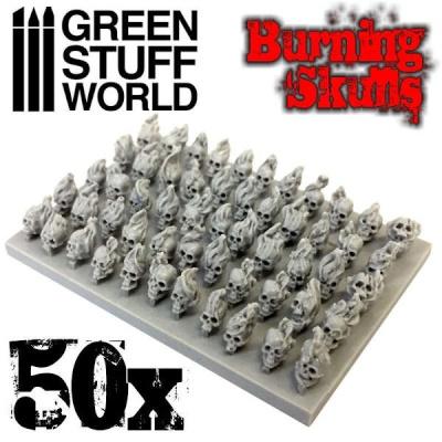 50x Resin Burning Skulls