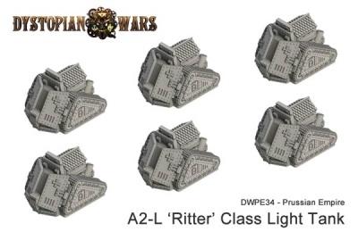 Prussian Empire A2-L 'Ritter' Class Light Tank (6) (OOP)