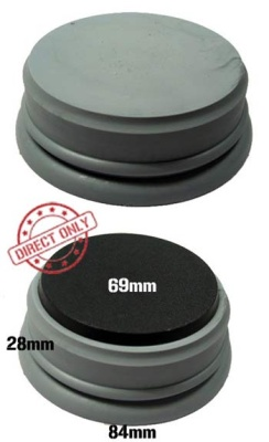 Secret Weapon- 60mm Display Plinth - Lipped Bottom