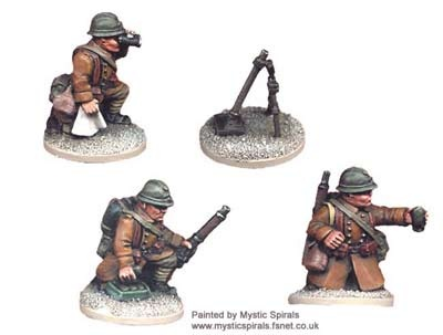 French 60mm Mortar+crew (1 mortar, 3)