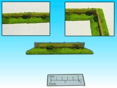 Geländestück Holzzaun (15mm)
