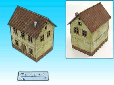 Geländestück 2-stöckiges Haus (15mm)