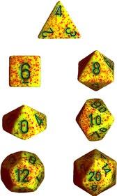 Chessex Lotus Speckled 7-Die Set