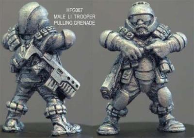 Grymn trooper preparing grenade