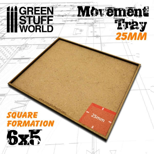 MDF Movement Trays 25mm 6x5