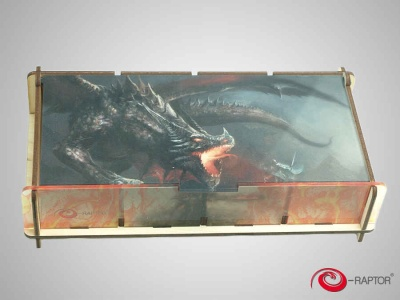 Board Game Storage Boxes:Token Box L- Knight Fighting Dragon