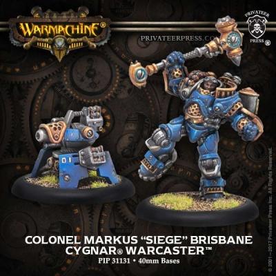 Cygnar Warcaster Colonel Markus 'Siege' Brisbane