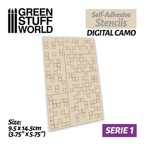 Self-adhesive stencils - DIGITAL CAMO