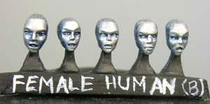 Human female heads (b) Sprue of 5 (5)