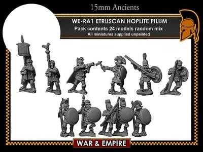 Etruscan Hoplites, pilum