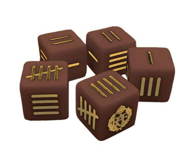 British Blood Red Skies Dice set