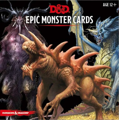 Dungeons & Dragons: Monster Cards - Epic Monsters (77 cards)