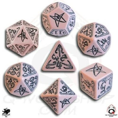 Pink & Black Call of Cthulhu Dice (7)