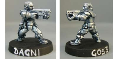 Dagni, Light infantry trooper with SMG