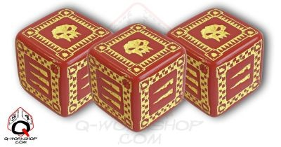 Ork Battle Dice Red (5)