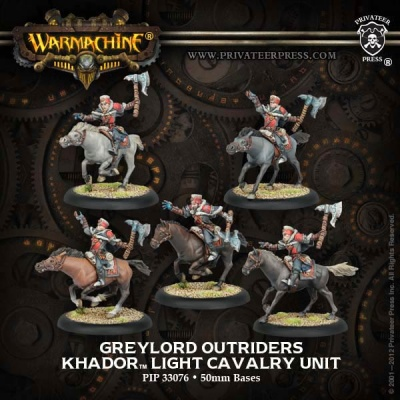Khador Greylord Outriders Light Cavalry Unit Box (plastic)