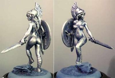 Artemis, 40mm  White Metal