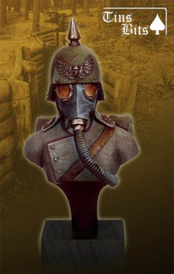 Soldat mit Gasmaske (Büste)