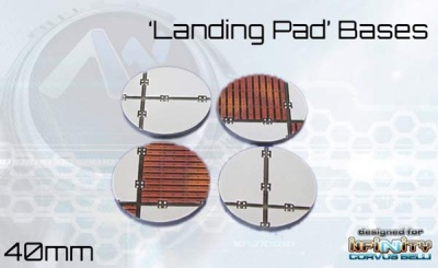 Landing Pad Bases - 40mm round (4)