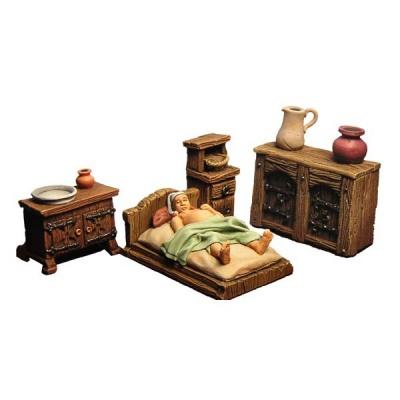 Mittelalterliche Schlafkammer