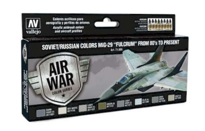 "Model Air Set Soviet / Russian colors MiG-29 ""Fulcrum"" (8)"