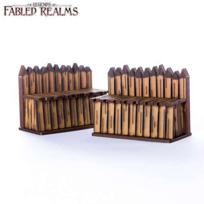 "Two 3"" Palisade Walls"