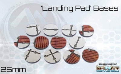 Landing Pad Bases - 25mm round (12)