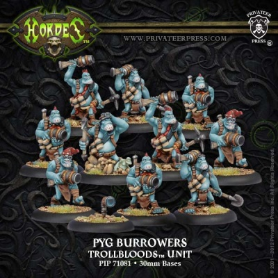 Trollblood Pyg Burrowers Unit (10)