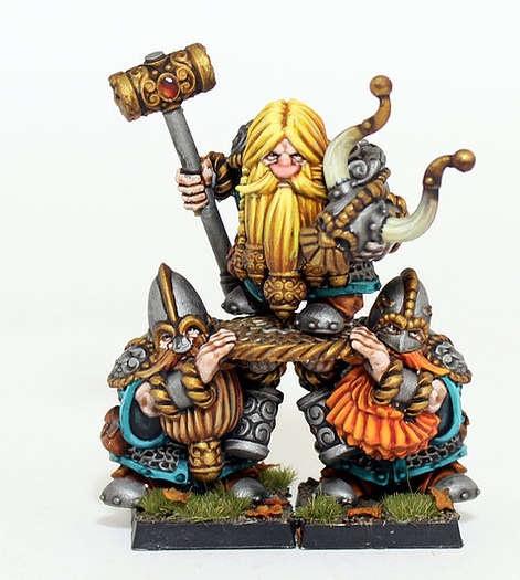 Dwarf Lord on Shield