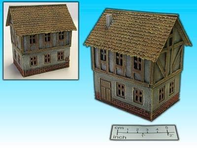 Geländestück Fachwerkhaus II (15mm)