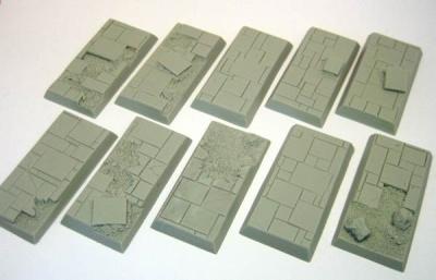 Cavalry Base - Slate Ruins 25mm x 50mm (10)