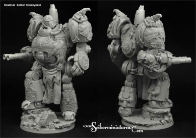 28mm SF Egyptian Osiris Mech Suit (1)