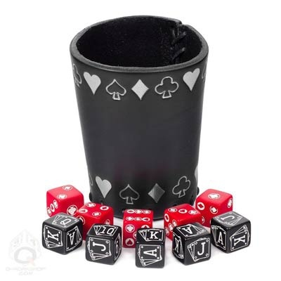 Poker Dice Set with Silver Cup