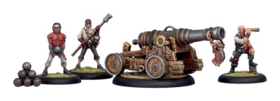 Mercenary Privateer Commodore Cannon & Crew