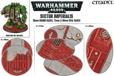 Sector Imperialis: Rundbases (60 mm) & Ovalbases (75 & 90)