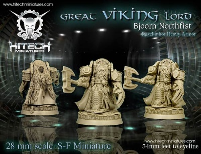 28mm Great Viking Lord Bjoorn Northfist