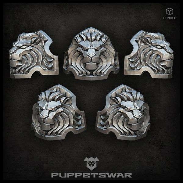 H.I. Lion Shoulder Pads