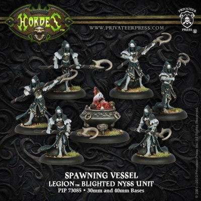 Legion of Everblight Spawning Vessel & Acolyths (7)