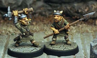 Goblins II (hammer, spear)