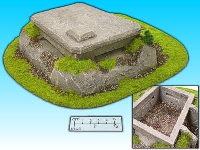 Geländestück großer Bunker