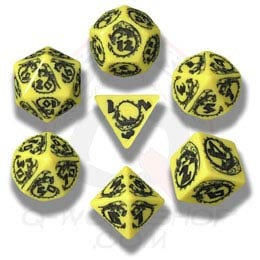 Gray & Black Dragons Dice (7)