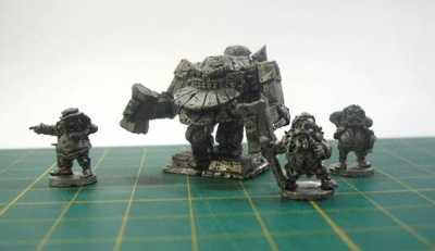Blight Haven Dwarven Warmachine with crew